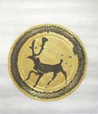 Deer Plate by Bernard Leach