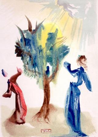 Canto 24 (Dante's Divine Comedy, Purgatory) by Salvador Dalí