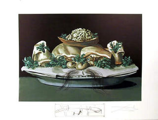 Les Suprenes de Maillaise Liliputiens - From the Series Les Dîners de Gala by Salvador Dalí