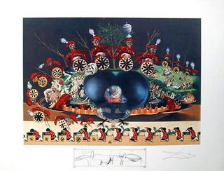 Les Montres Molles Demi Sommeil - From the Series Les Dîners de Gala by Salvador Dalí