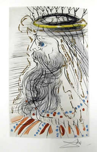 King Solomon (from the Series The Song of Songs of King Solomon) by Salvador Dalí