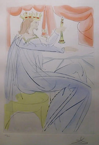 King Solomon (from the Series Our Historical Heritage) by Salvador Dalí