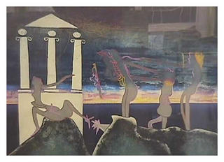 10 p.m. (from the L'Arc Obscur des Heures Portfolio) by Roberto Matta