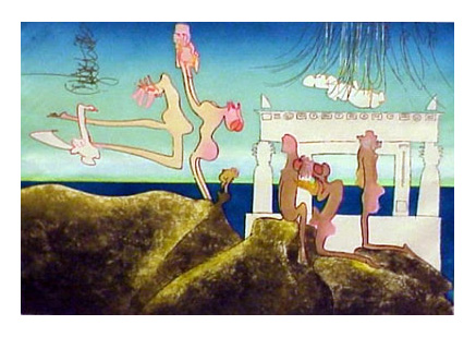 from the L'Arc Obscur des Heures Portfolio by Roberto Matta