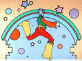 Cosmic Jumper II by Peter Max