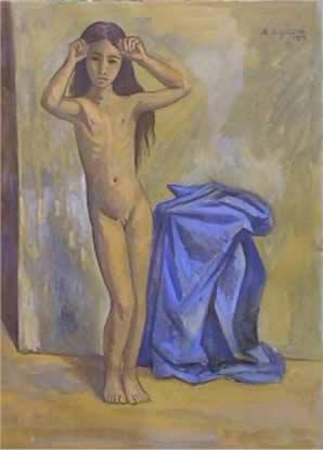 La Niña Desnuda by Raul Anguiano