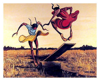 Springboard by Ernie Barnes