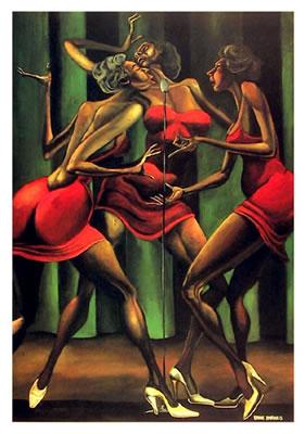 Singin Sistahs Original Art By Ernie Barnes Picassomio