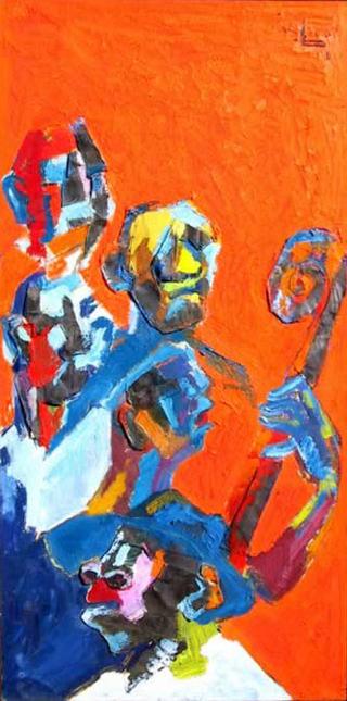 Faces de Jazz, New Orleans by Rene Brochard