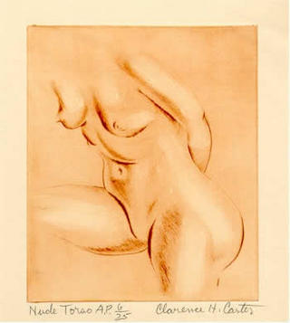 Nude Torso by Clarence Holbroock Carter