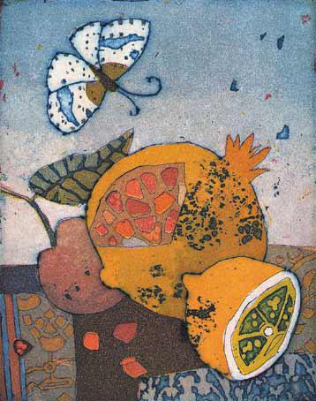 Kleiner Granatapfelbesuch (Little Pemegranate Visit) by Jutta Votteler