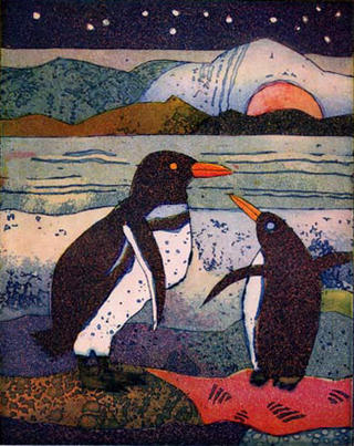 Pinguinpaar (Penguin Couple) by Jutta Votteler