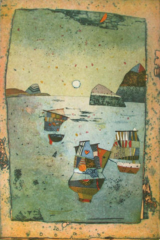 Ausfahrt der Schiffe (Departing Ships) by Jutta Votteler