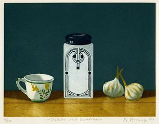 Stilleben mit Knoblauch (Still Life with Garlic) by Michael Renninger