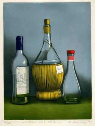 Stilleben mit Flasche (Still Life with Bottle) by Michael Renninger