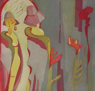 Frau im Spiegel I (Woman in Mirror I) by Anke Fleischer
