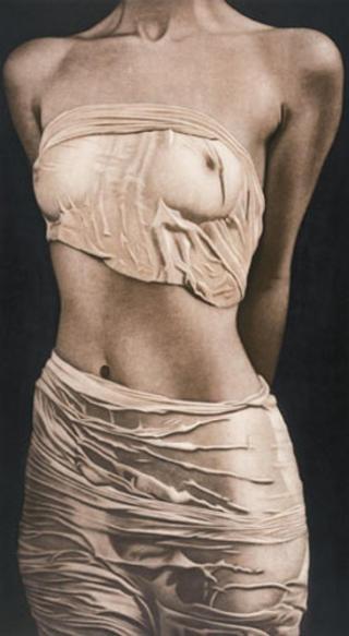 Halbakt mit zwei Tüchern (Half Nude with two Cloths) by Willi Kissmer