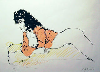 Reclining Figure by Carlos Alonso