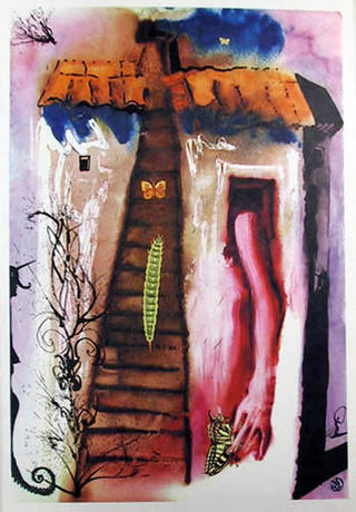 The Rabbit Sends in a Little Bill (Portfolio: Alice in Wonderland) - Portfolio Price by Salvador Dalí