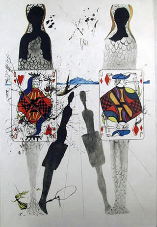 The Queen's Croquet Ground (Portfolio: Alice in Wonderland) - Portfolio Price by Salvador Dalí