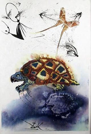 The Mock Turtle's Story (Portfolio: Alice in Wonderland) - Portfolio Price by Salvador Dalí