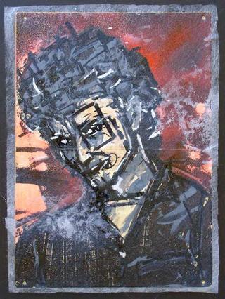 """Michel François Portrait by Thierry  """"Deth"""" Delsart"""
