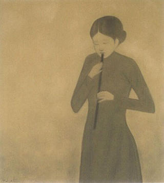 Girl Playing Flute by Hong Viet Dung