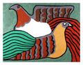 Hens by Víctor Delfín