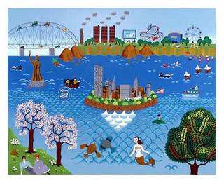 New York Fantasy by Gisela Fabian