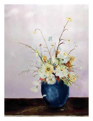 Blue Vase Floral by Fioravanti