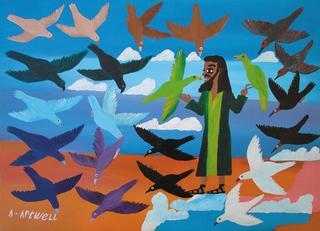 Jesus Creating Birds by Albert Artwell