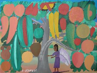The Miracle Tree and the Angel Destroying the Serpent by Albert Artwell