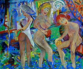 The Bathers (The Blue Collection) by Witold Podgorski
