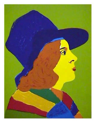 Girl with Hat II by John Grillo