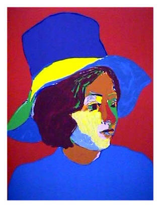 Girl with Hat IV by John Grillo