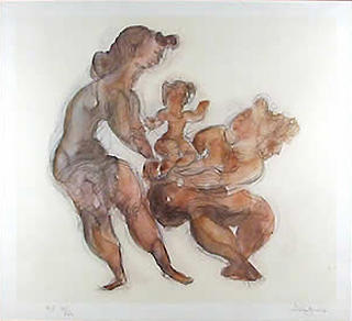 Women with Child by Chaim Gross