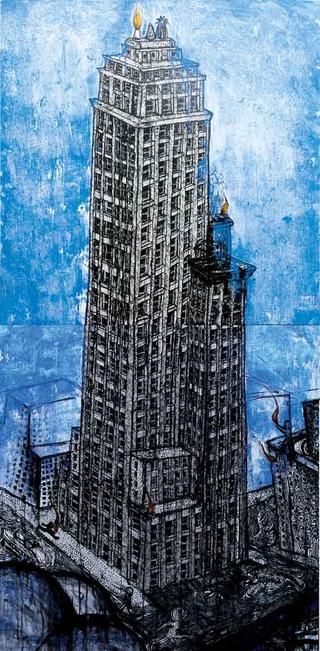 Blue Tower (Dipthyc) by Omar Panosetti