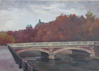 Pont en Automne by Alain Lutz
