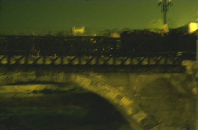Party at the Old Bridge (from the Series Paisajes Oscuros) by José Andrés Prieto