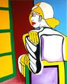 Woman In Front of the Window by Raúl Cañestro