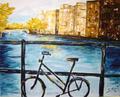 Bike Ride Canvas by Sarrias Cruxent