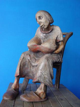 Sitting by Piotr Woroniec