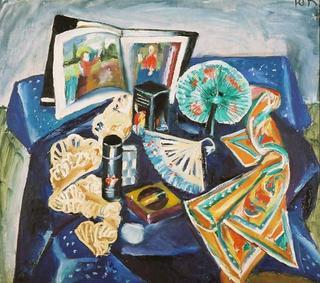 Objects in Blue by Yulia Korjevskaya