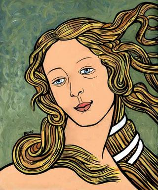 Detail of Boticelli´s Venus by Cristian Barnes