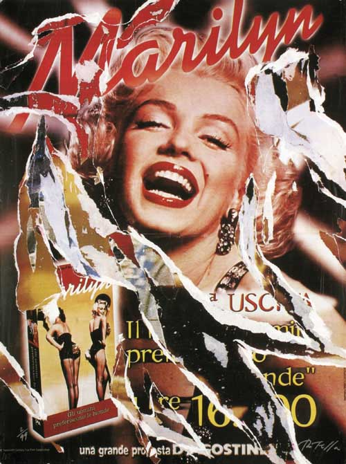 Marilyn Allegra Original Art By Mimmo Rotella Picassomio