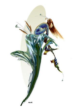 Blue Lily by Dodó