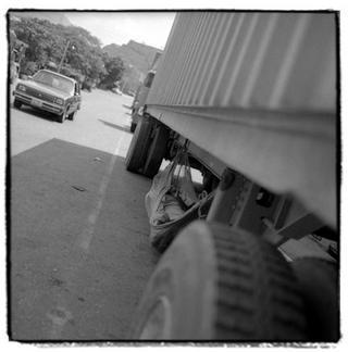 Pit Stop Between Countries by Joe Lasky