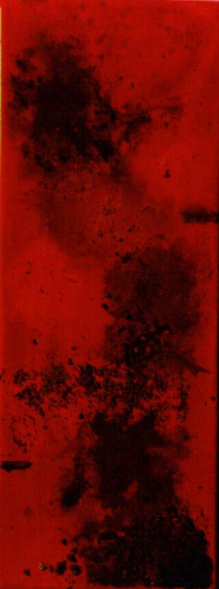 Flüssiges Rot Hochkant (Liquid Red Vertical) by Wiebke Dreyer