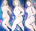 The Three Graces (Triptych) by Anne Radu