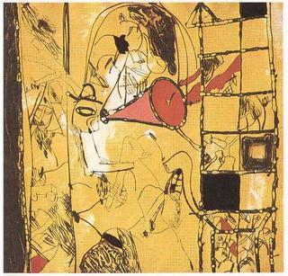 Con una Cuchara de Palo (A García Lorca un Poeta en Nueva York Series) by Josep Mª Guinovart